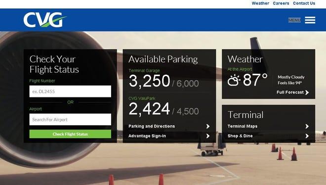Cincinnati/Northern Kentucky International Airport has launched a newly designed website.