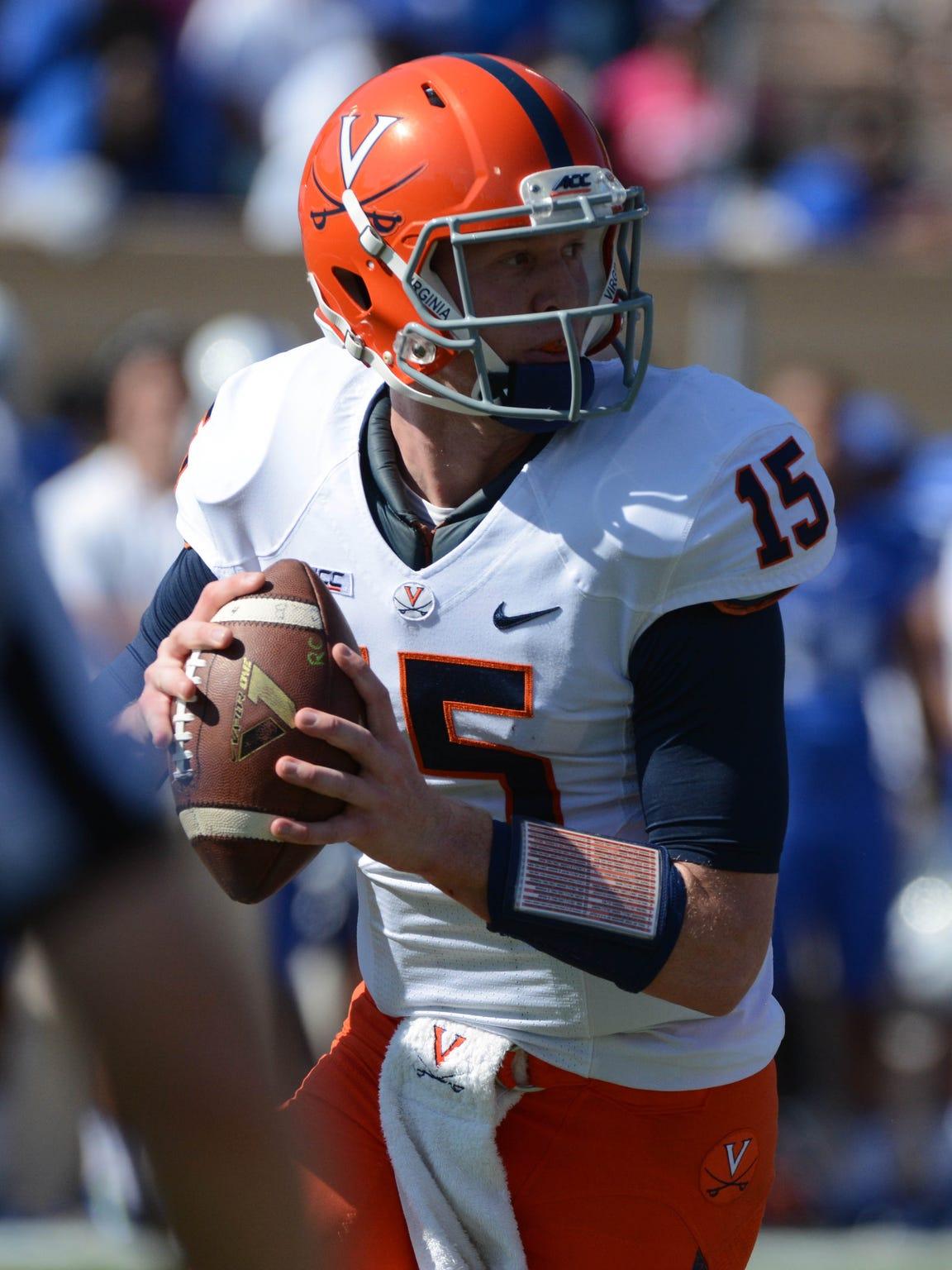 Virginia quarterback Matt Johns