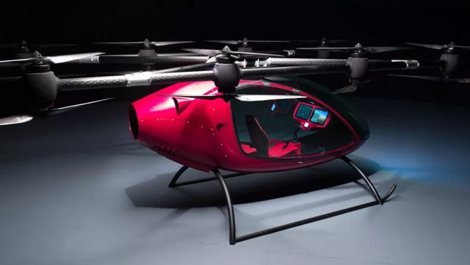 AAA Air Taxi, owned by Brock's Auto Sales in Brent, plans to operate a flying taxi service with a vehicle like this one pictured.