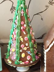 The Artist Baker's gingerbread tree is available at the shop in Morristown