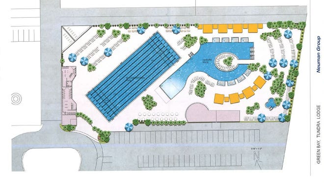 A conceptual drawing of the proposed pools at Tundra Lodge.