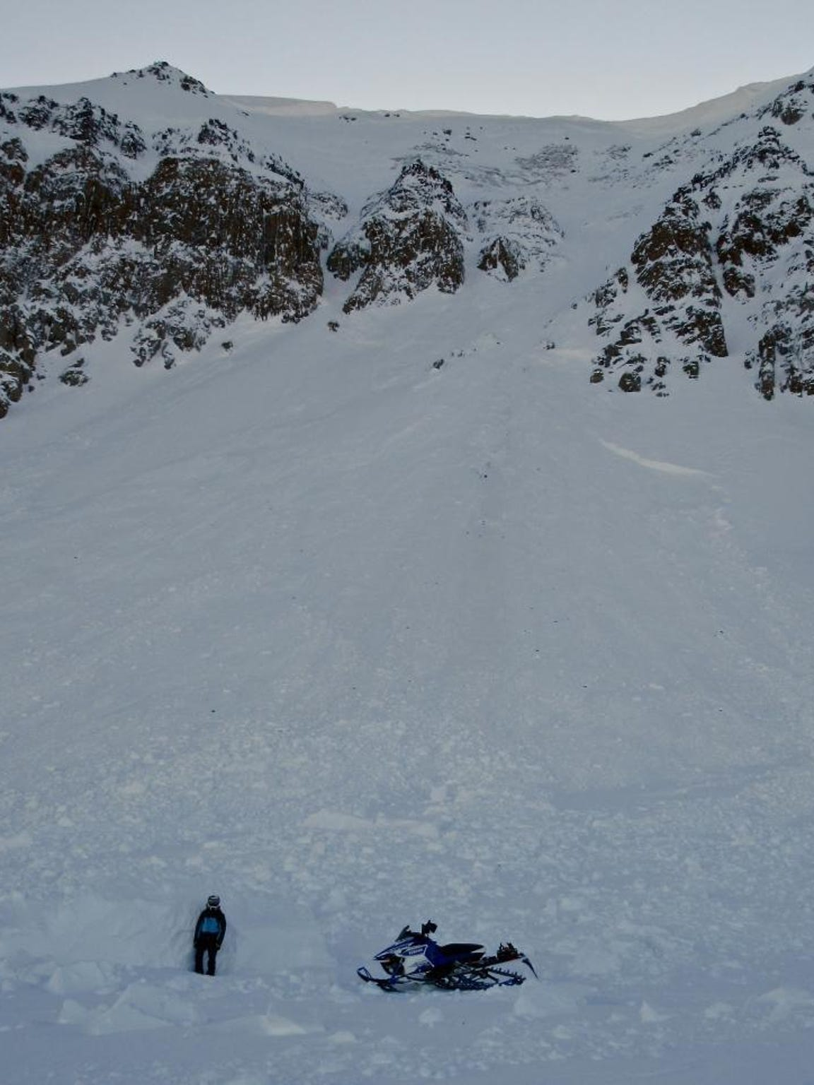 Large natural avalanche that occurred on a wind loaded slope on Sheep Mountain near Cooke City in late December.