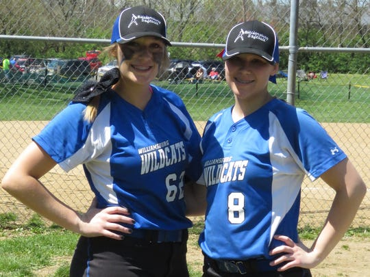 Carly Wagers, left, and Kacey Smith threw consecutive no-hitters last season and bring that fire back to Williamsburg in 2017.