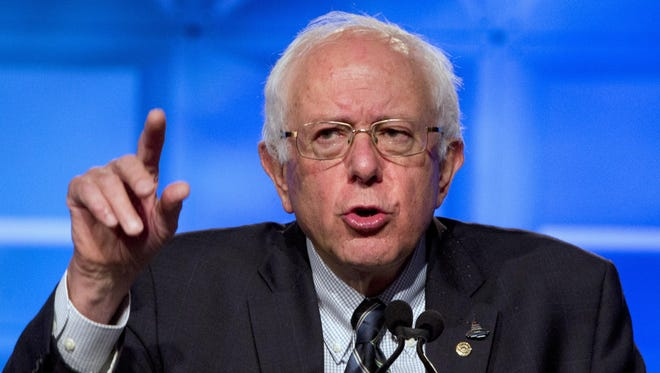 Democratic presidential candidate Sen. Bernie Sanders, I-Vt., was part of a live webcast Wednesday for supporters across the country.