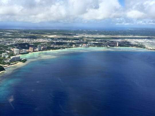 An areal view of the Tumon coast.