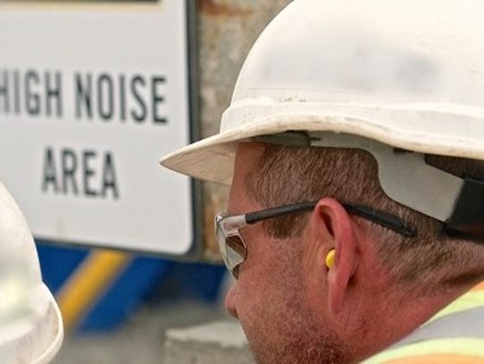 OSHA guidelines indicate that the threshold for hearing