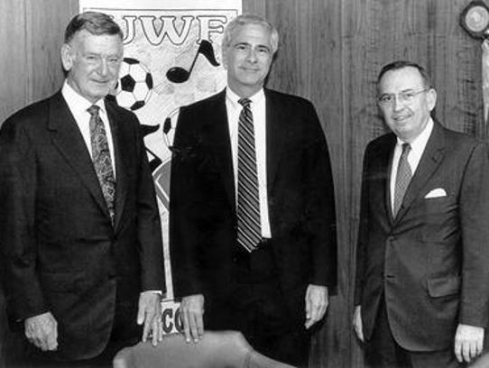 The University of West Florida's first three presidents,