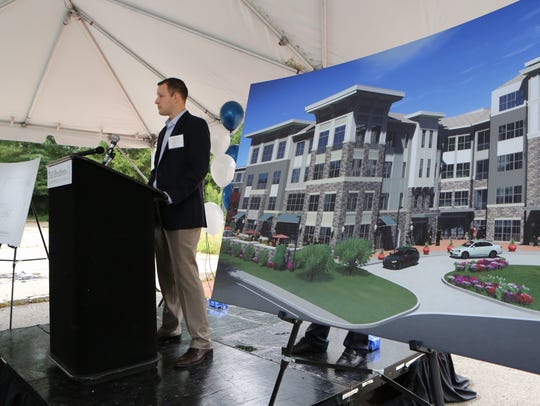 Bryan Oos, with Toll Bothers Apartment Living, speaks