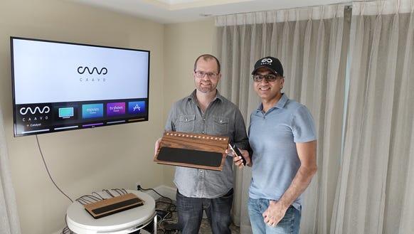 Caavo co-founders Andrew Einaudi. and Ashish Aggarwal