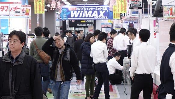 The floors of the Yodobashi massive electronics mega