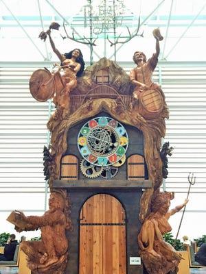 The giant cuckoo clock at Portland International Airport.