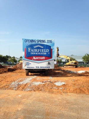 The new, 109-room Fairfield Inn and Suites is expected to open next spring near the Alexandria Mall.
