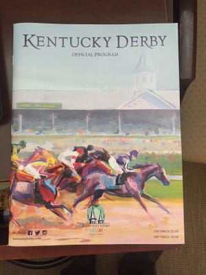 Churchill Downs is giving out copies of its 2015 Kentucky Derby souvenir program to the first 500 simulcast fans Sunday.