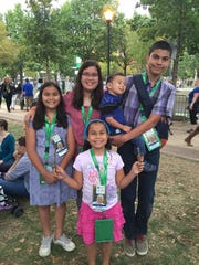 The Malley kids together at the Papal Mass.