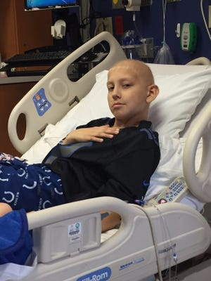 Carson Collins, 12, of Brownsburg is being treated In the Peyton Manning Children's Hospital for Birkett Lymphoma.