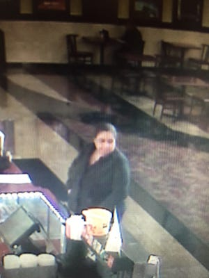 Salinas police are looking for this woman in connection to a theft at Maya Cinema on Sunday.
