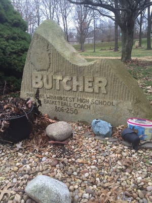 Stone sign honoring Jack Butcher.