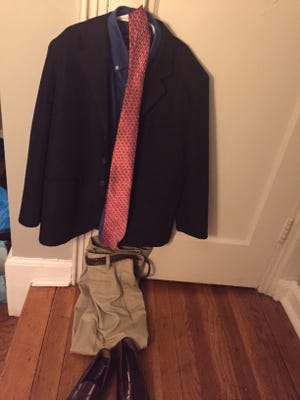 This jacket, shirt, tie, pants and shoes were all only $60 at Kids Consignment in Madison.
