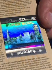 A hologram showing the San Francisco skyline on the
