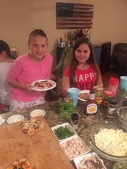 Guests at Ava's sleepover made their own pizzas, with dozens of toppings from which to choose.