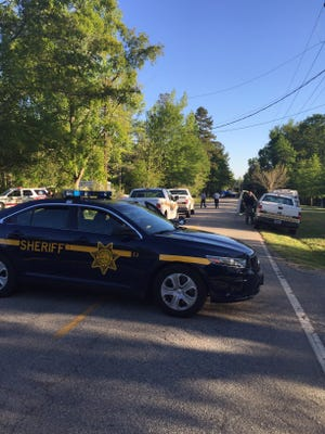 Deputies blocked off Eastview Road in Pelzer as they investigated a fatal shooting.