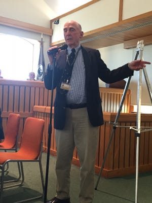 Toms River Planner Jay Lynch speaks at a May 18 Planning Board meeting.
