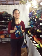 Dale Hwang is an independent dyer with a beautiful array of her wool yarns.