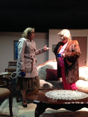"""Actors rehearse for """"The Cemetery Club.""""  The comedy about three Jewish widows runs June 10-19 at Brush Creek Playhouse, 11535 Silverton Road NE."""