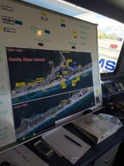Inside the emergency command center at the Pensacola