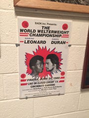 A poster from a 1980 boxing match at the Cincinnati Gardens.