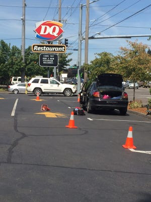 A dismantled meth lab was found in a car outside a South Salem Dairy Queen Friday.