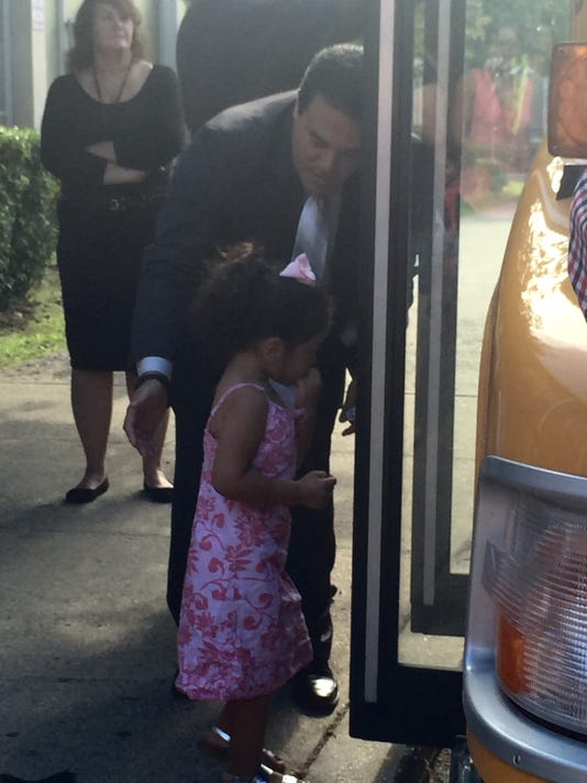 Yonkers students practice bus safety