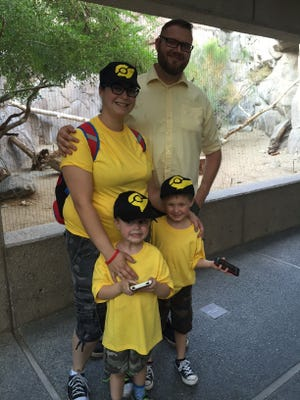 Christine Rathgen, her husband Eric, and their two sons at The Living Desert's PikaZOO event Saturday, August 27, 2016.