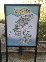 A map showing all the Pokestops at The Living Desert as part of the zoo's PikaZOO event Saturday, August 27, 2016.