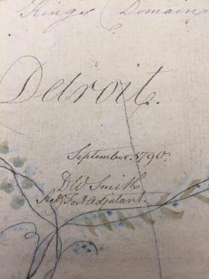 The map was signed by its author, David William Smith, a captain in the British Army assigned to Detroit and dated September 1790.