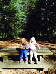 Pics are of my daughters, ages 7 and 3, along the Davidson River in the Pisgah National Forest.