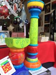Wooden candlestick holders by Ann Marie Rausch at Fresh