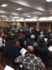 Audience at public hearing.