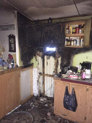 A home in Scott was damaged in an accidental fire Wednesday.