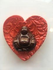 Oliver Kita creates chocolate Buddhas for Valentine's day.