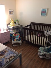 One of three bedrooms at Sanctuary, this room provides space for babies and young children.
