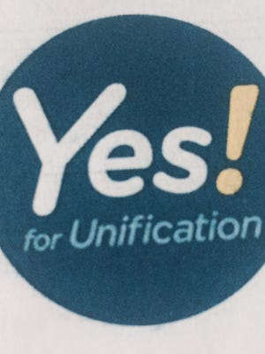 Yes! for Unification logo.