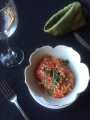 Fresh spaghetti with marinara is on the menu at Silver Spoon in Westmont.