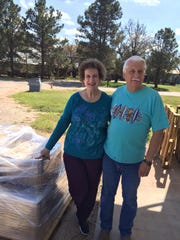 Melanie and Gary Brown, owners of Serenity Soapworks and Gap Gifts, in Buffalo Gap, send out an order of 4,000 units of eye cream.