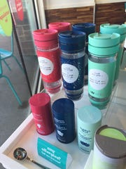 A selection of teas at David's Teas in Liberty Town Center.