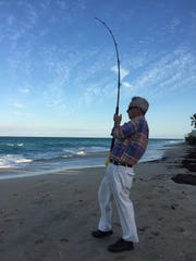 When surf fishing for sharks, or sawfish, it's business