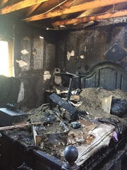 Fire damaged a bedroom and the attic of a home in the 2300 block of Woodpecker Avenue in Ventura on Saturday.