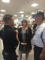 Ricky Stenhouse Jr. chats with Diana Clauson and Dan