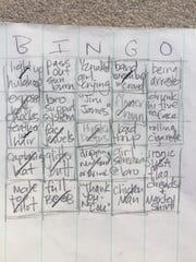 Forecastle Bingo (patent pending)