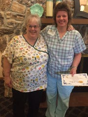 Felician Village recently held its Annual Employee Service Awards ceremony. The event commemorated employees for their tenure at Felician Village. Pictured from left: One of the 30 years of service award recipients, Teresa Enfors, with her supervisor, Joan Smaglik, RN.